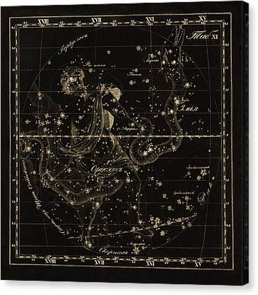 Ophiuchus Constellations, 1829 Canvas Print by Science Photo Library