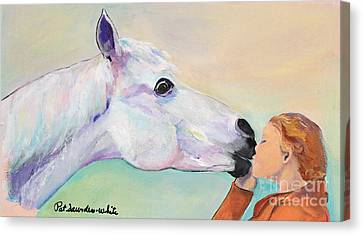 Opies' Kiss Canvas Print by Pat Saunders-White