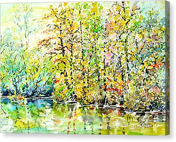Opposite Riverside Canvas Print