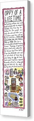 Opp'y Of A Lifetime Canvas Print by Roz Chast