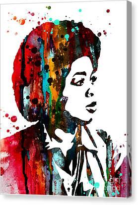 Oprah Winfrey Canvas Print by Watercolor Girl