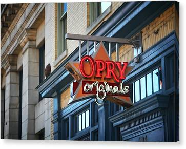Opry Originals On Broadway Canvas Print by Dan Sproul