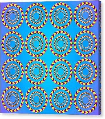 Optical Illusion Spinning Wheels Canvas Print by Sumit Mehndiratta