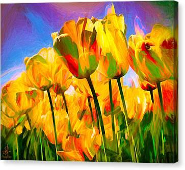 Canvas Print featuring the digital art Optimism by Pennie  McCracken