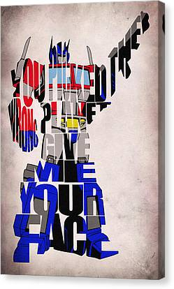 Optimus Prime Canvas Print by Ayse Deniz