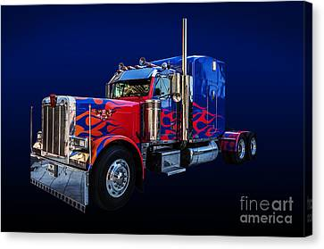 Optimus Prime Blue Canvas Print by Steve Purnell