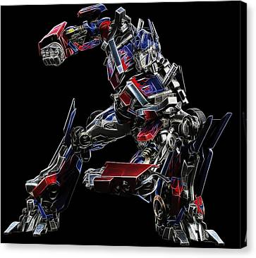 Optimus Prime Canvas Print by Malania Hammer
