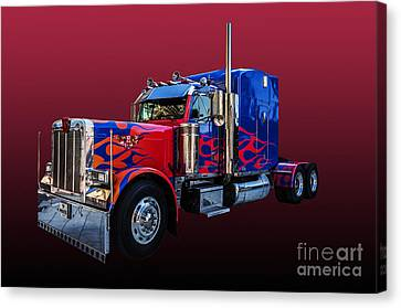 Optimus Prime Red Canvas Print by Steve Purnell