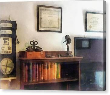 Optometrist Canvas Print - Optometrist - Eye Doctor's Office With Diploma by Susan Savad