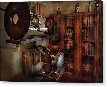 Personalized Canvas Print - Optometrist - The Lens Apparatus by Mike Savad