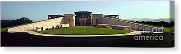 Opus One Winery Canvas Print by Jon Neidert