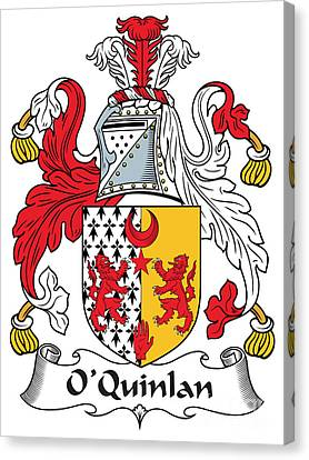 Oquinlan Coat Of Arms Irish Canvas Print by Heraldry