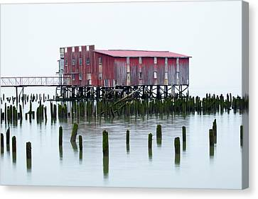 Or, Astoria, Old Fish Cannery Canvas Print