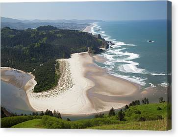 Or, Cascade Head, View Of Beach Canvas Print by Jamie and Judy Wild