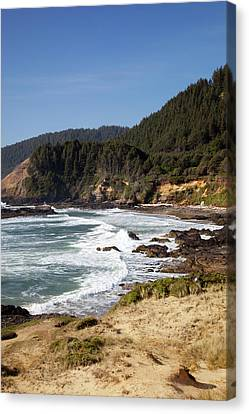 Or, Oregon Coast, View From Strawberry Canvas Print by Jamie and Judy Wild