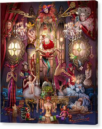 Performers Canvas Print - Oracle Of Visions Party Hr by Ciro Marchetti