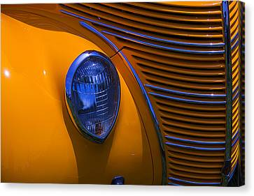 Orange 1938 Ford Coupe Canvas Print by Garry Gay