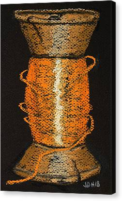 Canvas Print featuring the drawing Orange 6 by Joseph Hawkins