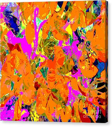 Canvas Print featuring the digital art Orange Abstract by Barbara Moignard