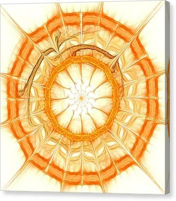Sunny Canvas Print - Orange by Anastasiya Malakhova