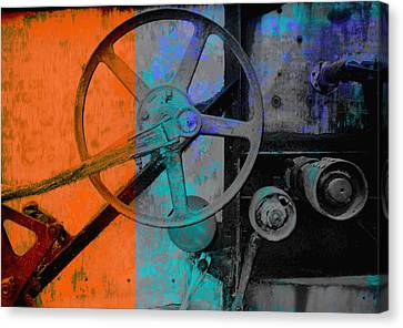 Orange And Blue  Canvas Print
