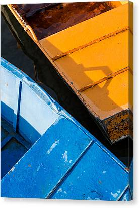 Orange And Blue Canvas Print by Davorin Mance