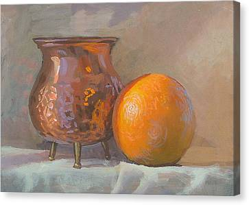 Orange And Copper Canvas Print by Peter Orrock