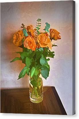 Canvas Print featuring the photograph Orange And Green by John Hansen