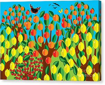 Orange And Lemons Canvas Print by Neil Finnemore