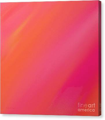 Orange And Raspberry Sorbet Abstract 2 Canvas Print by Andee Design