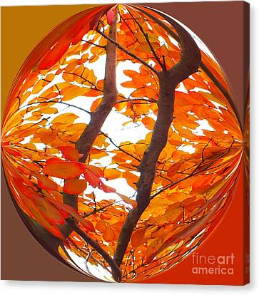 Orange Art Deco Canvas Print by Scott Cameron