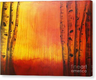 Orange Aspen Canvas Print