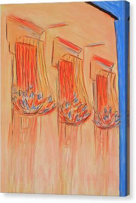 Orange Balcony Canvas Print by Marcia Meade