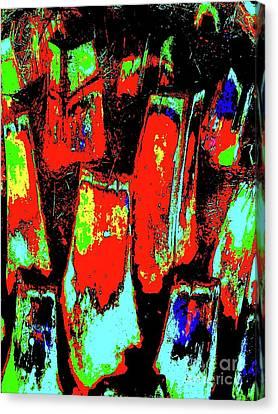 Orange Bark 0001 7 Canvas Print by Nina Kaye