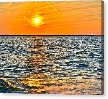 Marvelous View Canvas Print - Orange Burn by Frozen in Time Fine Art Photography