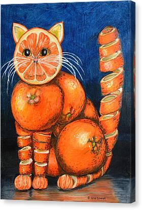 Orange Cat Canvas Print by Jane Loveall