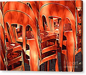Orange Chairs Canvas Print