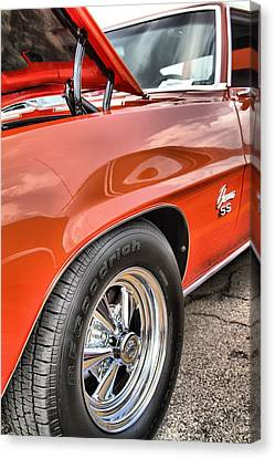 Dukes Of Hazard Show Canvas Print - Orange Chevelle Ss 396 by Dan Sproul