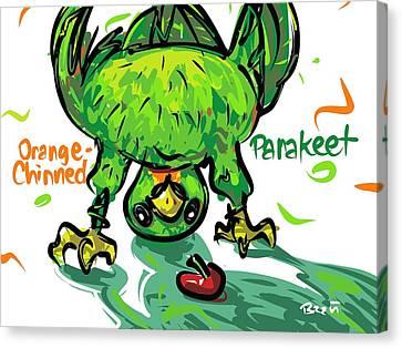 Orange-chinned Parakeet Canvas Print