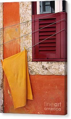 Orange Cloth  Canvas Print by Carlos Caetano