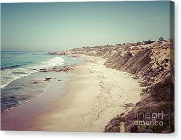 Orange County California Retro Photo Canvas Print by Paul Velgos