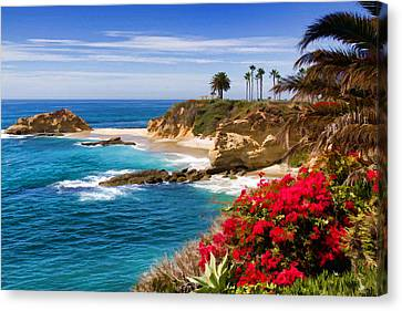 Orange County Coastline Canvas Print