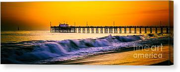 Orange County Panoramic Sunset Picture Canvas Print by Paul Velgos