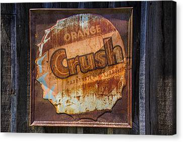 Orange Crush Sign Canvas Print by Garry Gay