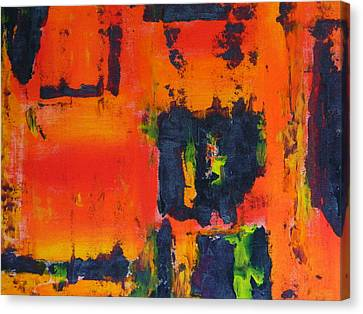 Canvas Print featuring the painting Orange Day by Everette McMahan jr