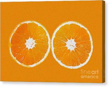 The Buffet Canvas Print - Orange Eyes by Victoria Herrera