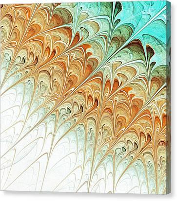 Orange Folium Canvas Print by Anastasiya Malakhova