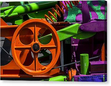 Orange Gear Canvas Print by Garry Gay