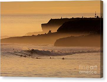 Canvas Print featuring the photograph Orange Glow by Paul Topp
