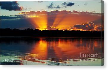Orange Gods - Sunrise Panorama Canvas Print by Geoff Childs